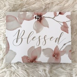 """Blessed"" Canvas Art"